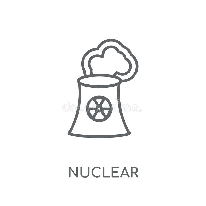 Nuclear linear icon. Modern outline Nuclear logo concept on whit vector illustration