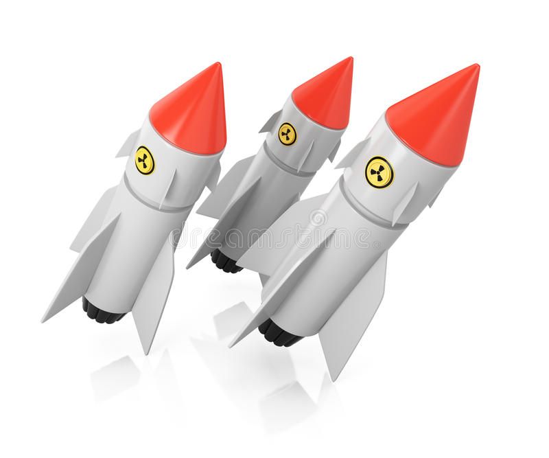 Nuclear missiles royalty free illustration