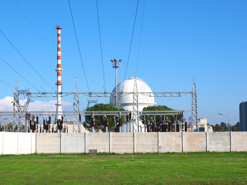 Nuclear plant. Nuclear power plant in Foce Verde, Italy royalty free stock photos