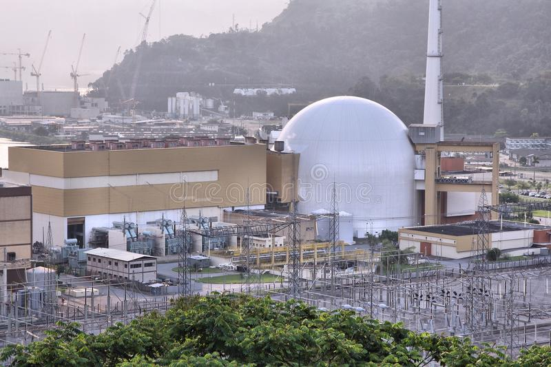 Nuclear plant in Brazil. Nuclear plant of Angra dos Reis, Brazil stock image