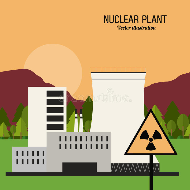 Nuclear plant in colorful design, vector illustration. Nuclear plant concept with icon design, vector illustration 10 eps graphic vector illustration