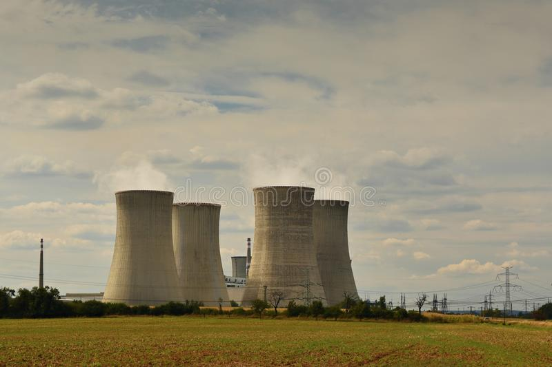 Download Nuclear Plant . Landscape With Power Station Chimneys. Dukovany Czech Republic. Stock Image - Image of chimneys, energy: 103669137