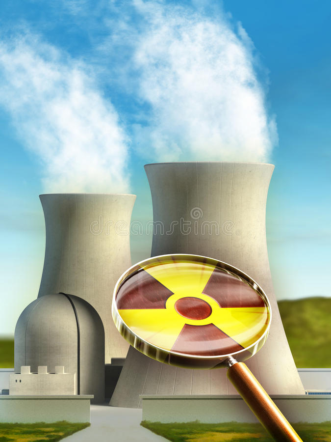 Nuclear power royalty free illustration