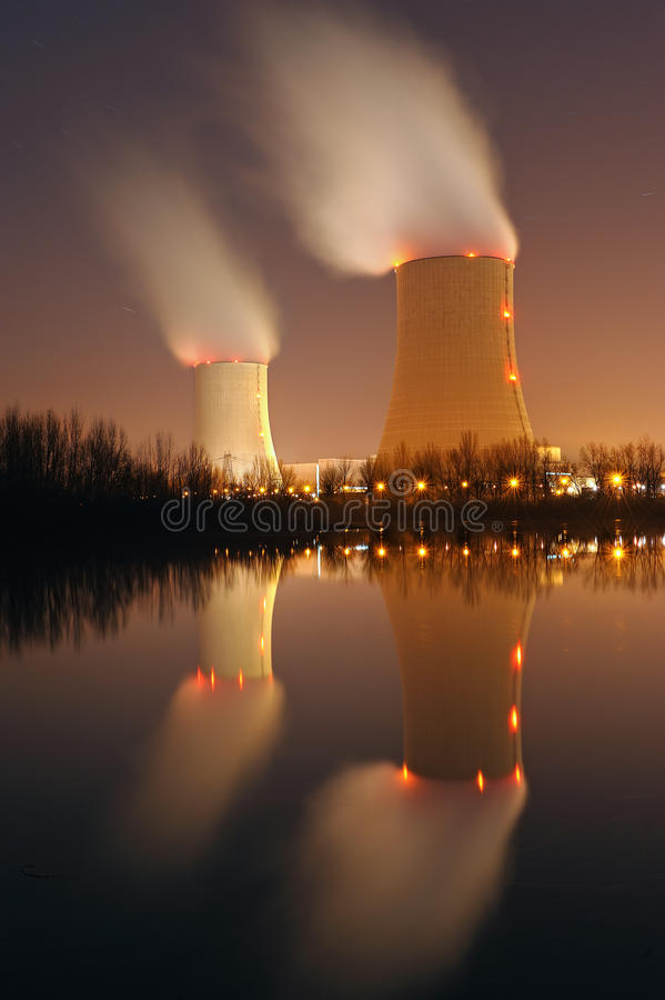 Nuclear power. Plant in southern France royalty free stock photography
