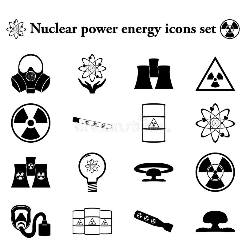 Nuclear power energy 16 simple icon on colorful background. Nuclear power energy 16 simple icon on colorful round background vector illustration