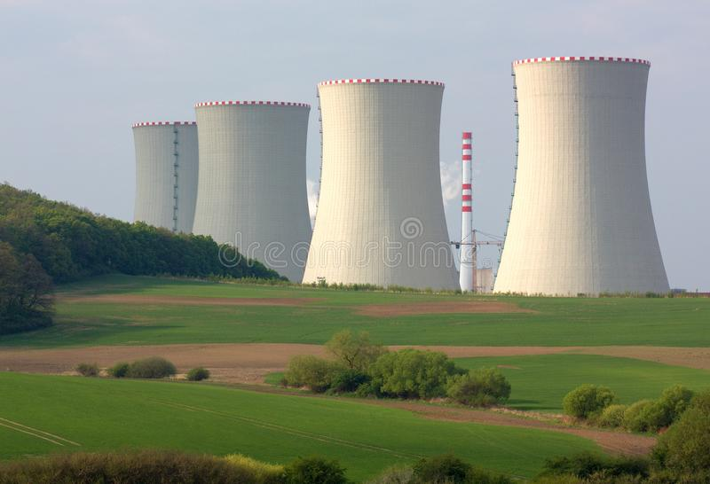 Nuclear power plant. Mochovce, Slovakia - Nuclear power plant royalty free stock image