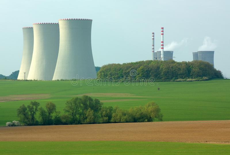 Nuclear power plant. Mochovce, Slovakia - Nuclear power plant royalty free stock photo