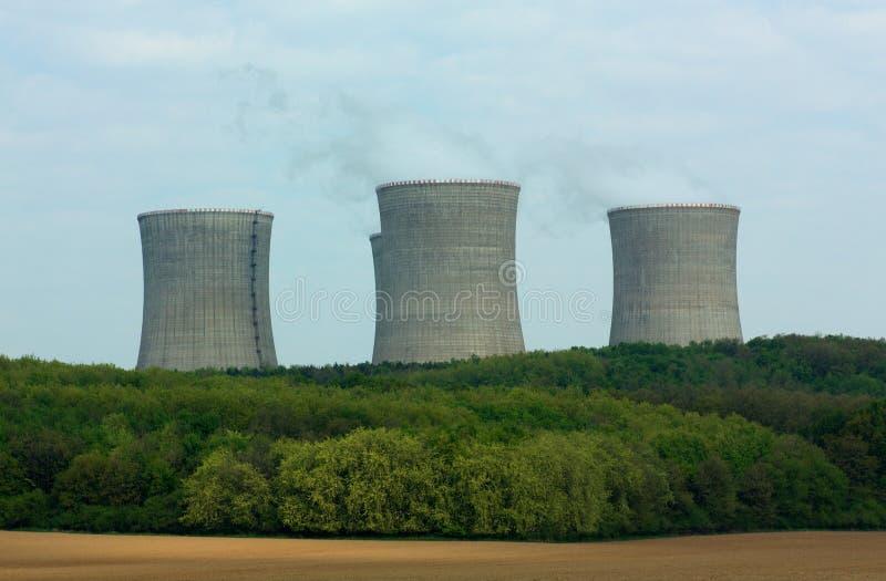Nuclear power plant. Mochovce, Slovakia - Nuclear power plant stock image