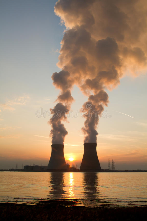 A nuclear power plant royalty free stock photography