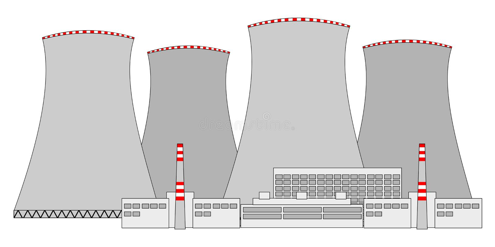 Download Nuclear power plant stock vector. Illustration of bomb - 26064448