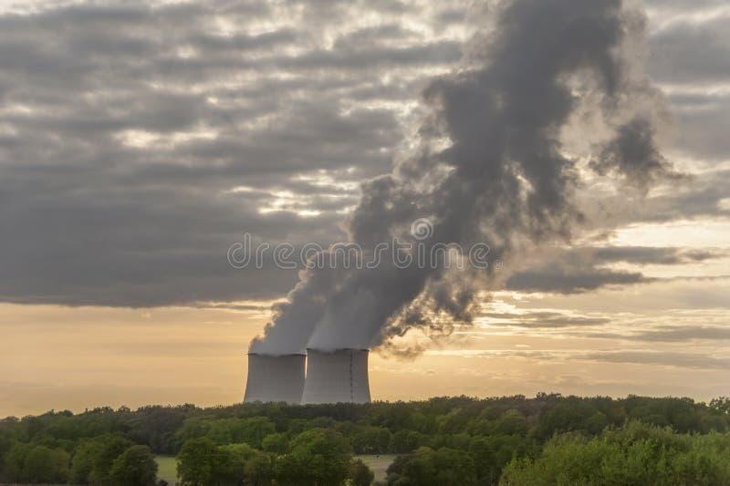 Nuclear power plant stock photos