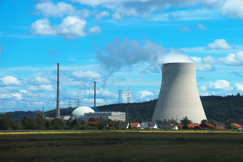 Nuclear Power Plant. In Germany stock photo