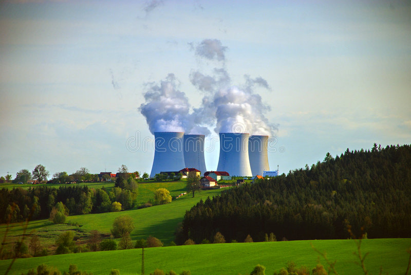 Nuclear Power Plant #6. Temelin, a 2 reactor nuclear plant in the southern part of the Czech Republic royalty free stock images
