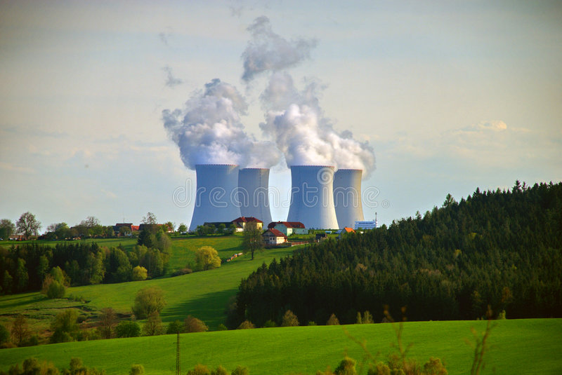 Nuclear Power Plant #9. Temelin, a 2 reactor nuclear plant in the southern part of the Czech Republic royalty free stock photography