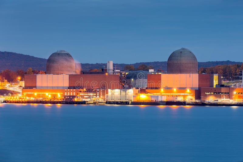 Nuclear power plant. On the Hudson River, north of New york City royalty free stock image