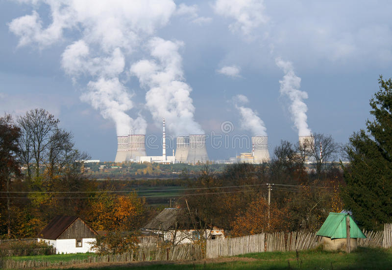 Download Nuclear power plant stock image. Image of factory, ecology - 35774833