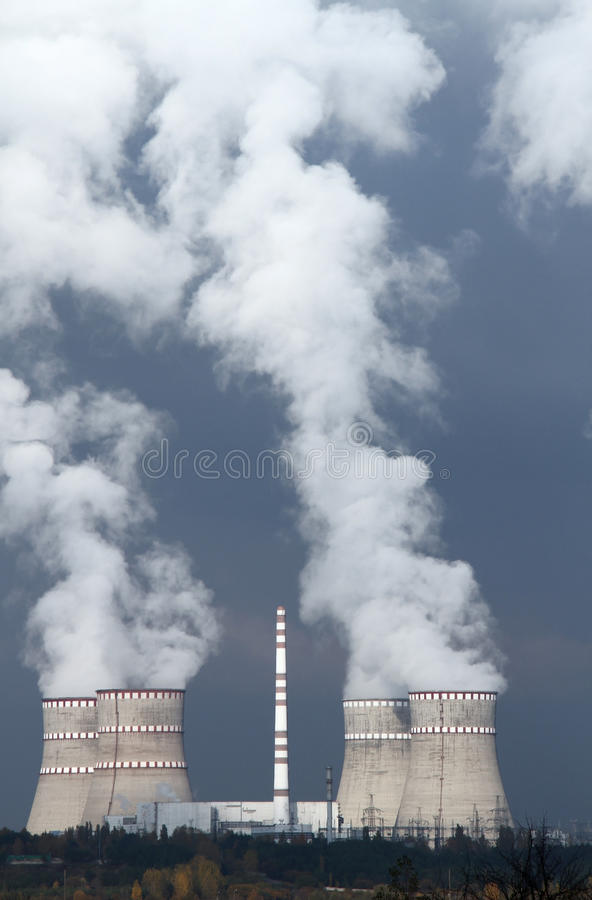 Download Nuclear power plant stock photo. Image of smoke, pollute - 38278760