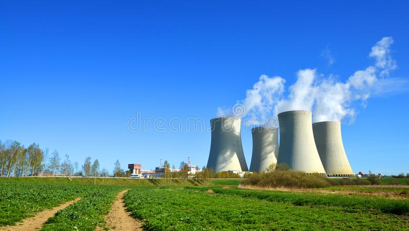 Nuclear power plant. Nuclear power plant Temelin in Czech Republic, Europe stock images