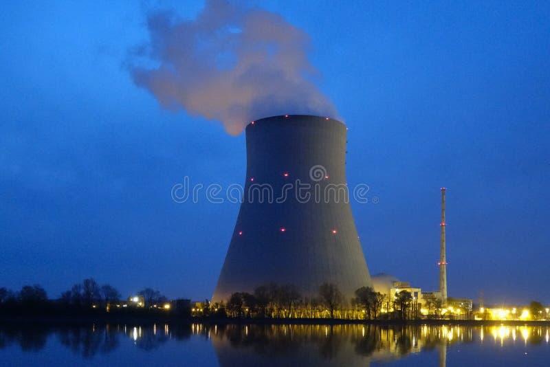 Nuclear power plant. Ohu near Landshut, Bavaria, Germany stock photos