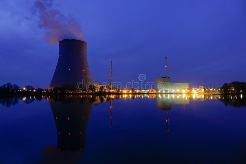 Nuclear power plant. Ohu near Landshut, Bavaria, Germany royalty free stock photos