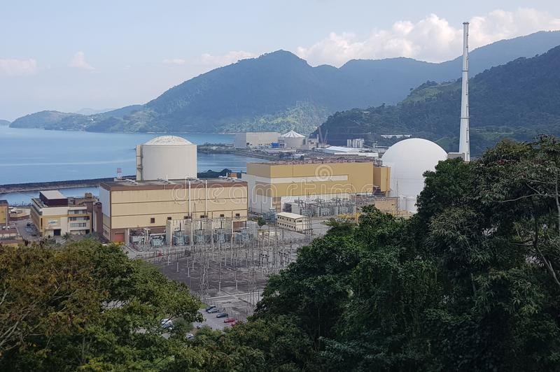 Nuclear power plant. In Rio de Janeiro, Brazil royalty free stock photography