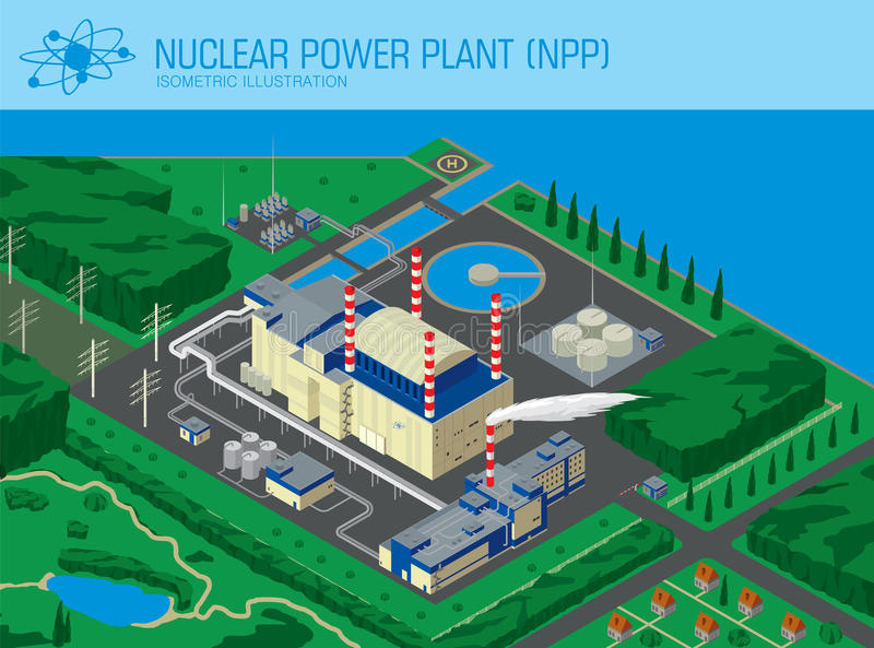 Nuclear Power Plant royalty free illustration