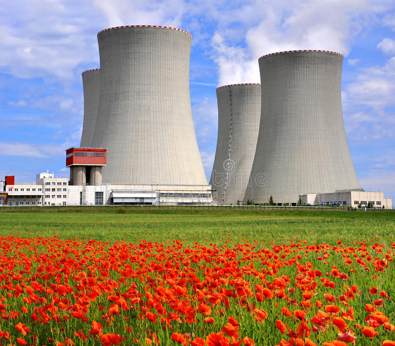 Nuclear power plant Temelin in Czech Republic. Europe stock photos