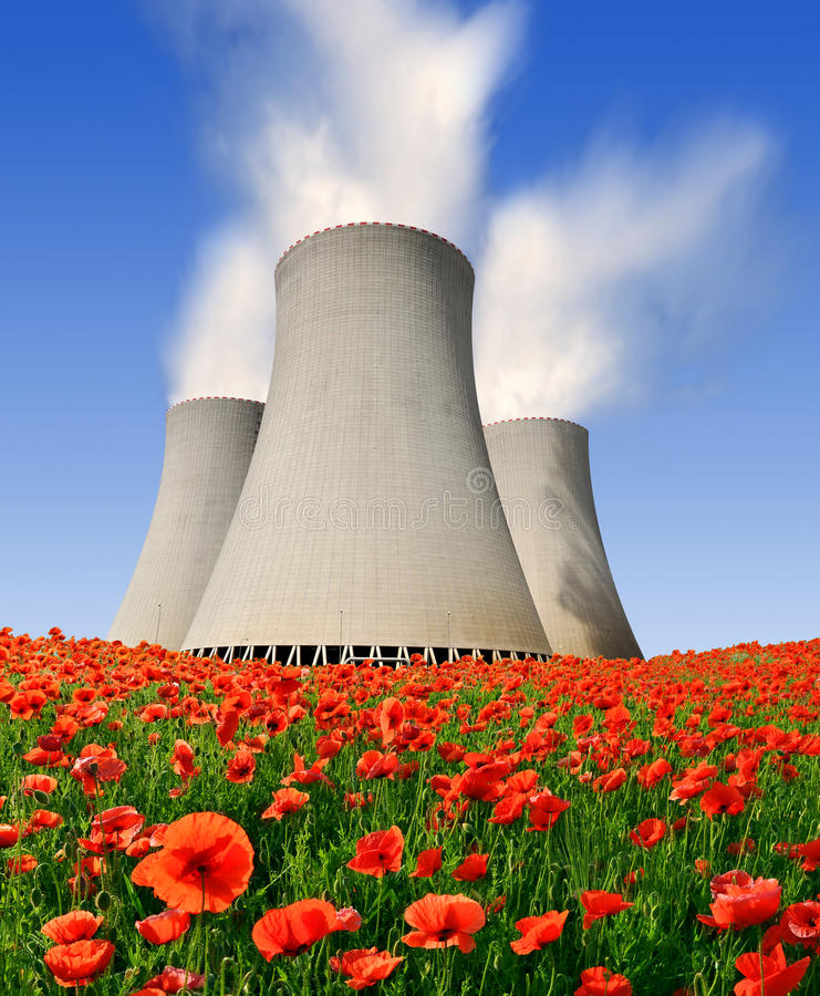Nuclear power plant Temelin in Czech Republic. Europe royalty free stock photography