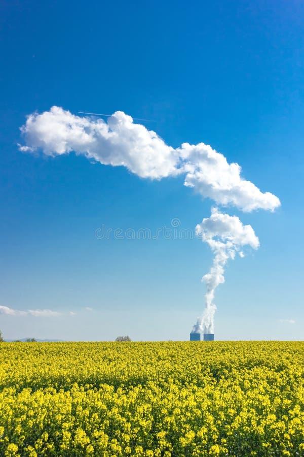 Nuclear power plant Temelin. royalty free stock photos