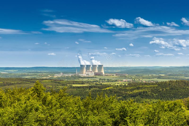 Nuclear power plant Temelin in Czech Republic. Europe.  royalty free stock photos