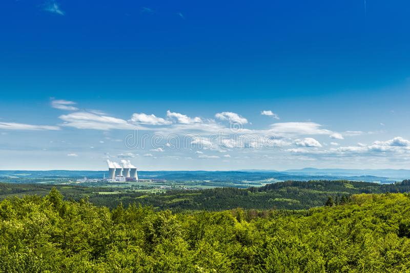 Nuclear power plant Temelin in Czech Republic. Europe.  royalty free stock images