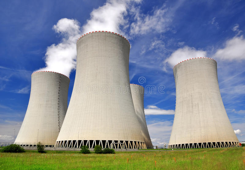 Nuclear power plant Temelin. In Czech Republic Europe royalty free stock photos