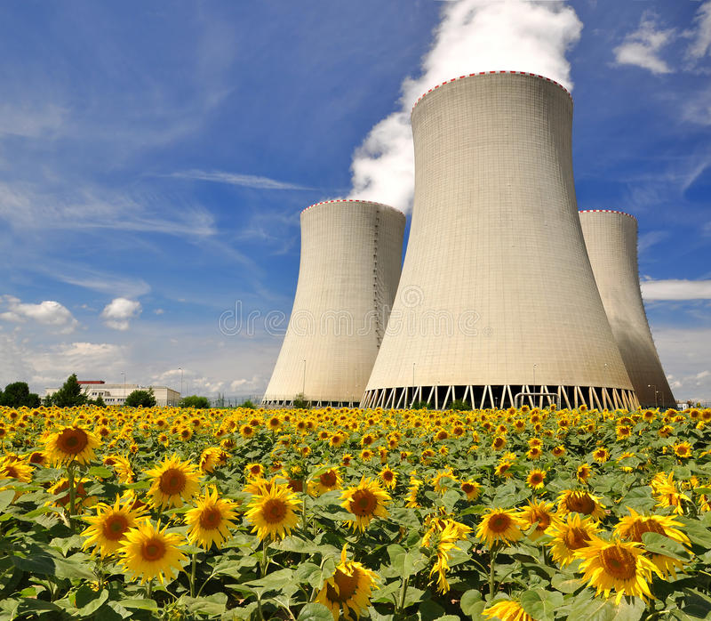 Nuclear power plant Temelin. In Czech Republic Europe stock photography