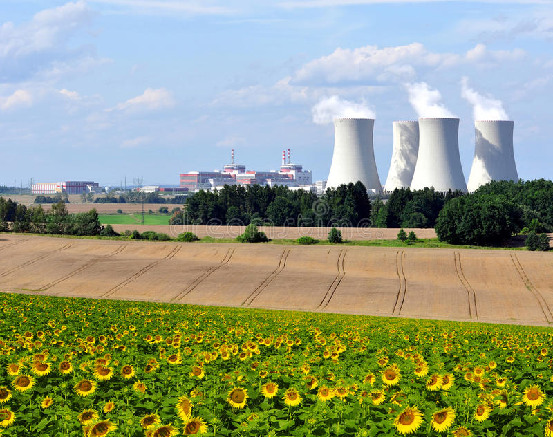 Nuclear power plant Temelin. In Czech Republic Europe royalty free stock photo