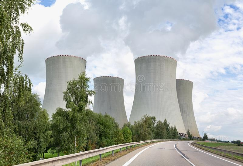Nuclear power plant Temelin. In the Czech Republic in Europe stock photo