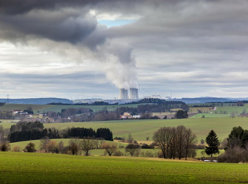 Nuclear power plant Temelin in Czech Republic. Europe.  stock photography