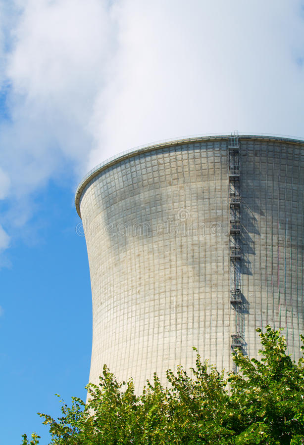 Download Nuclear power station stock image. Image of mist, technological - 16436413