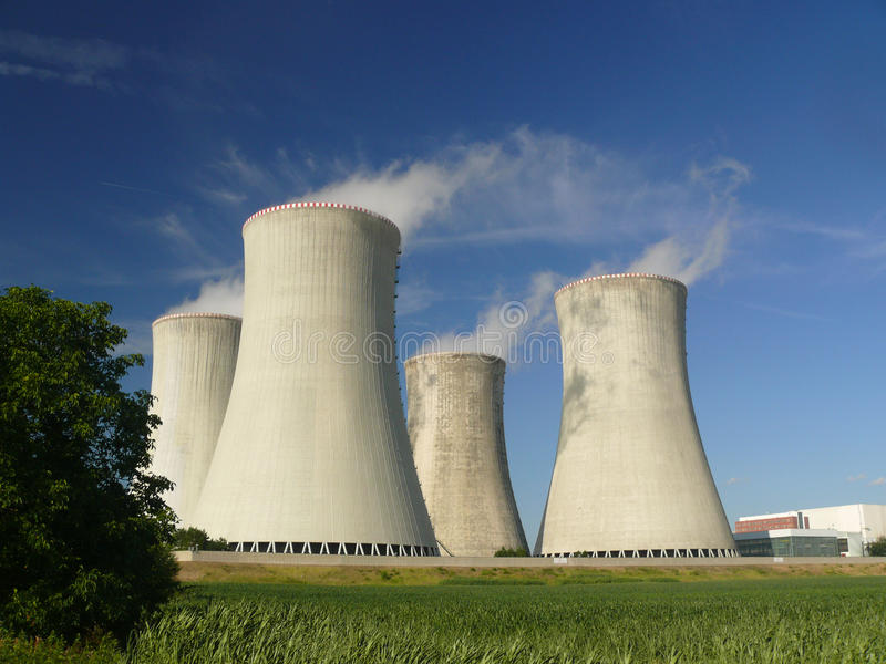 Nuclear power station. Dukovany. landscape royalty free stock photo