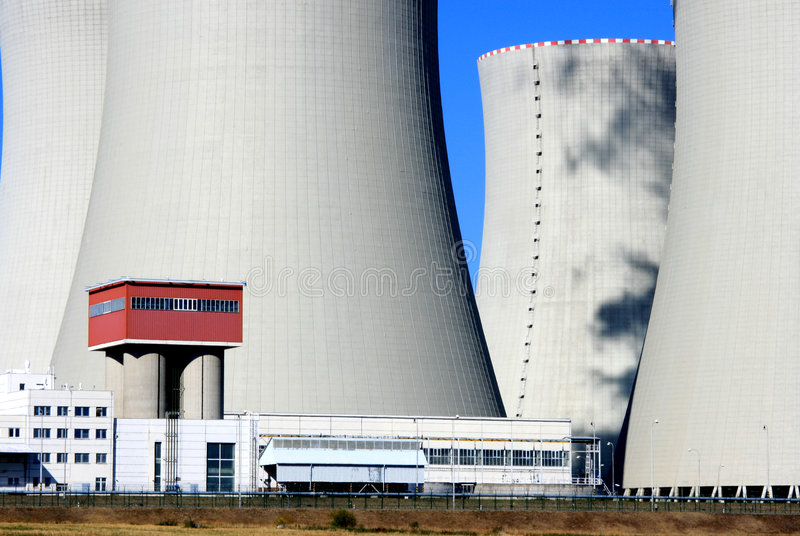 Nuclear power station 23 stock photography