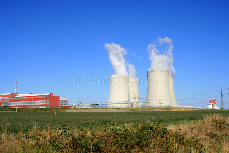 Nuclear power station 7 stock image