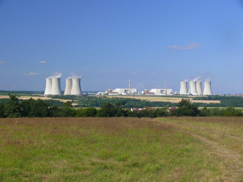 Nuclear power station Dukovany stock photography