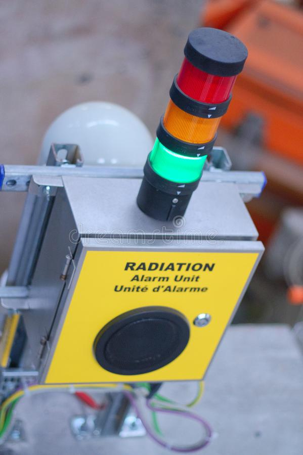 Nuclear Radiation Alarm royalty free stock photo