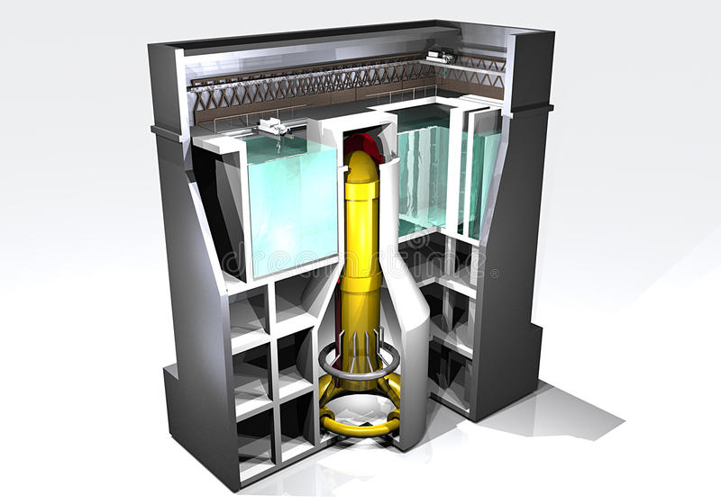 Download Nuclear reactor stock illustration. Image of plant, liquid - 18882099