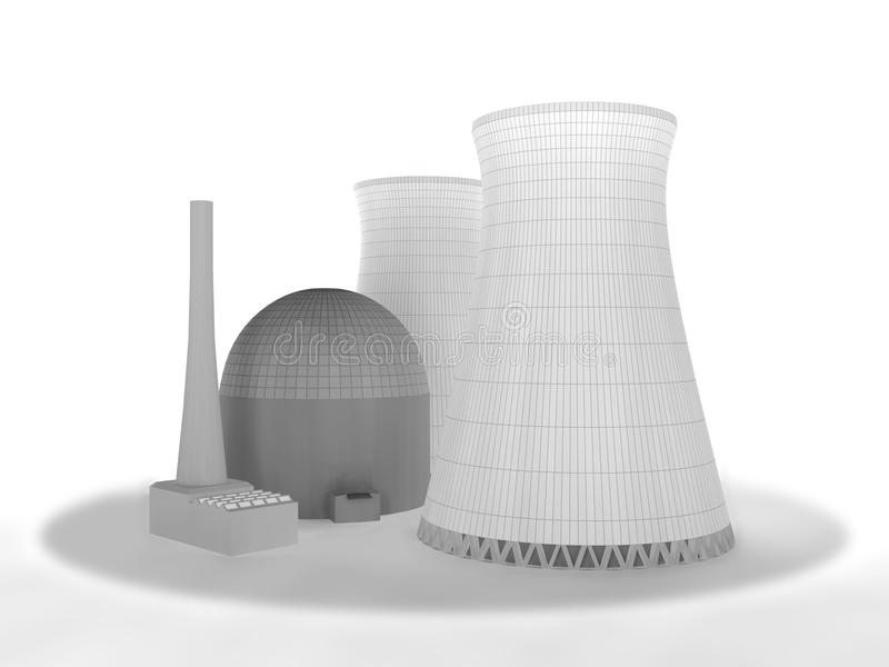 Nuclear reactor royalty free illustration