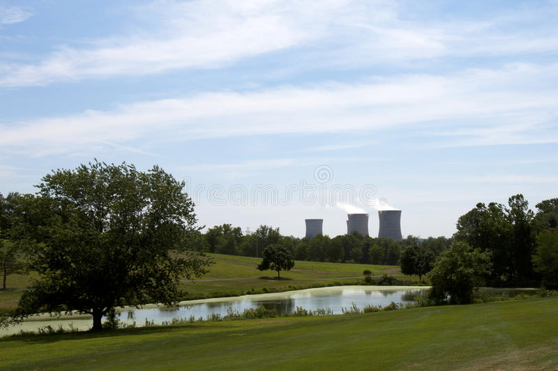 Download Nuclear Reactor stock image. Image of plant, green, neighboring - 20578123