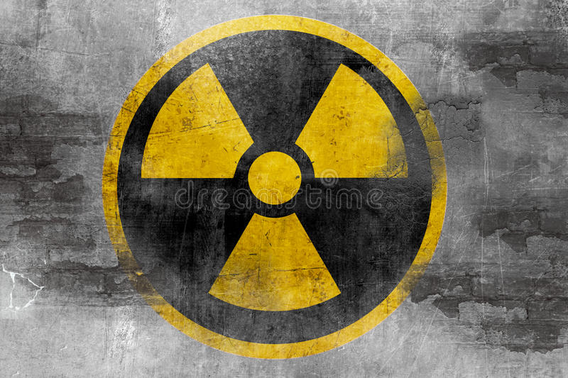 Nuclear reactor symbol royalty free illustration