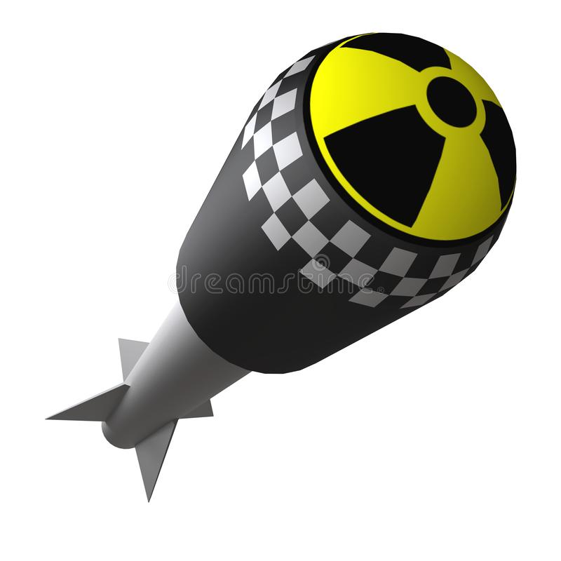 Nuclear rocket weapons stock image