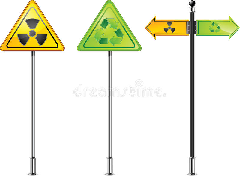 Download Nuclear sign stock vector. Illustration of danger, look - 18877285