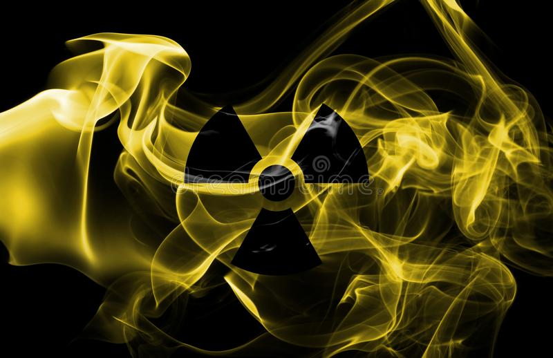 Nuclear smoke isolated on a black background royalty free stock photography