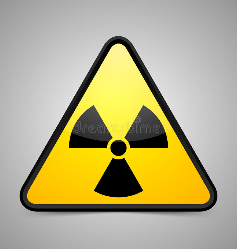 Nuclear symbol stock illustration